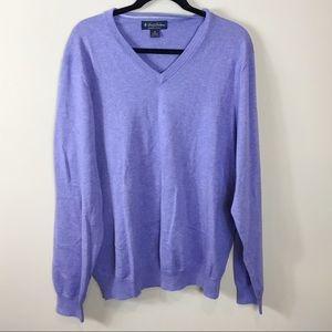 Men's Brooks Brothers Purple V-Neck Sweater