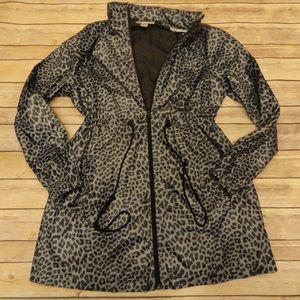 Motherhood Maternity gray leopard nylon jacket
