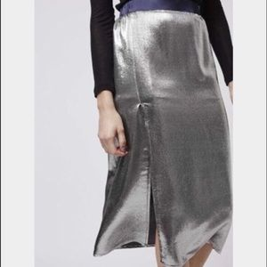 New with tags! TopShop liquid metallic skirt