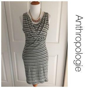 Anthropologie Bordeaux Twister Linears Dress S