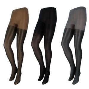 Accessories - NWT Black, Pewter & Bronze Tights (3 Pairs)