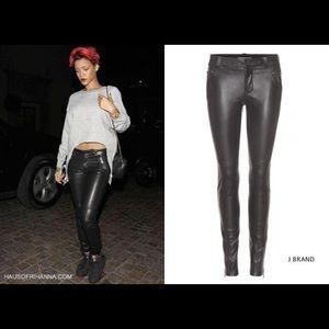 J brand Quatro leather pants