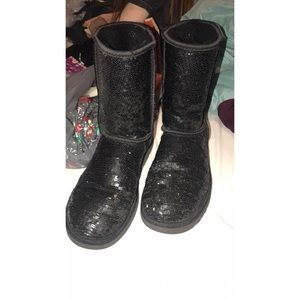 UGG Shoes - Black sparkle ugg boots