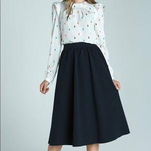 Zara dark blue  black skirt small