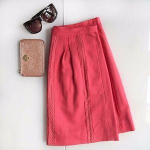 J. Crew Bright Skirt - Pink / Melon Color