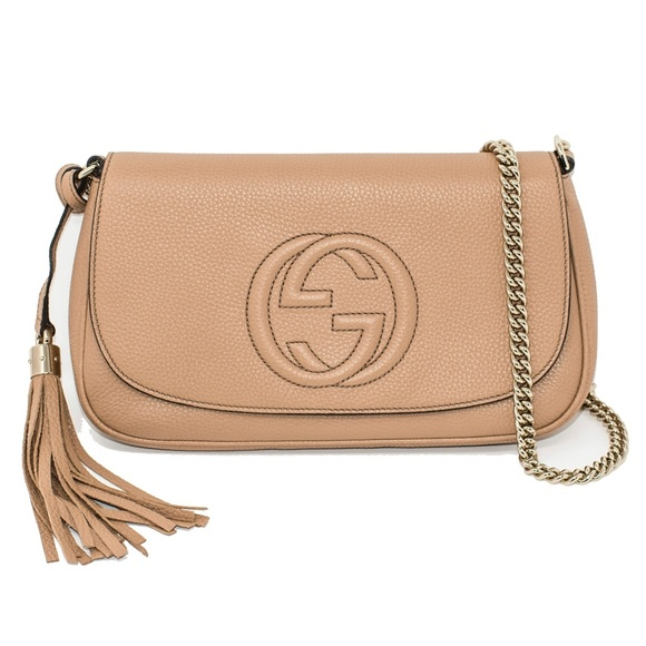 d55058474df NEW GUCCI BORSA SOHO LEATHER CHAIN CROSS-BODY BAG