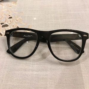 Aldo black plastic frame glasses