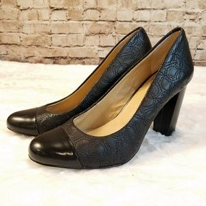Ann Taylor Quilted Leather Pumps