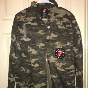 5ac561ab3e517 Forever 21 Jackets & Coats | Rolling Stone Camo Jacket | Poshmark