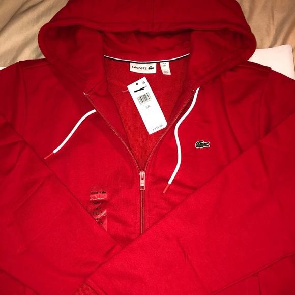 515c872dbf3d Lacoste Red Jacket   Hoodie