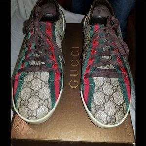 Gucci Monogram sneakers Size 10 Made in Italy