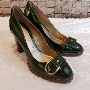 Apt 9 Sapphire Green Heels with Buckle Detail