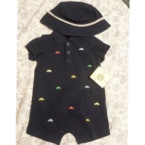 Car Romper with Hat