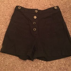 Urban outfitters high waisted black shorts