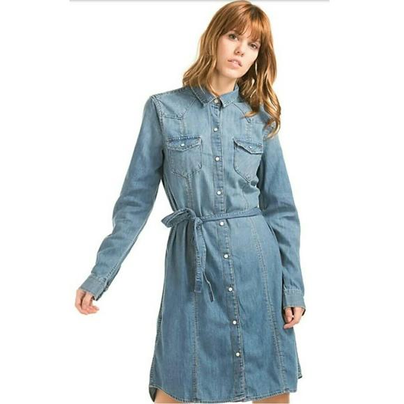 2ecfa836935ab GAP Dresses | 1969 Western Womans Indigo Cotton Shirt Dress | Poshmark