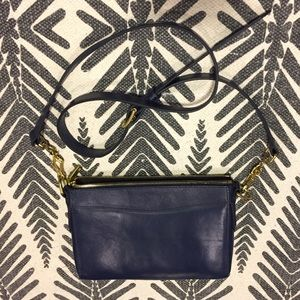 J.Crew Navy Tartine Crossbody Purse