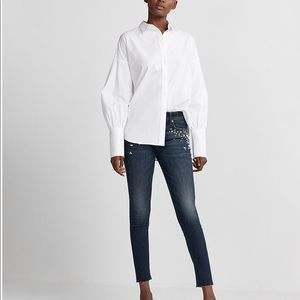 Express Jeans with faux jewel detail
