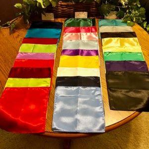 Men's Satin Pocket Squares - Various Colors