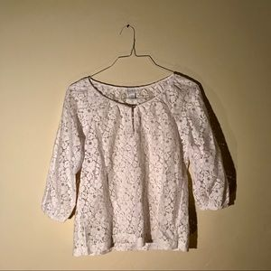 Women's Lace White Blouse