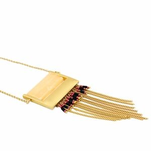 Jewelry - NEW Gold Fringes Long Pendant Necklace