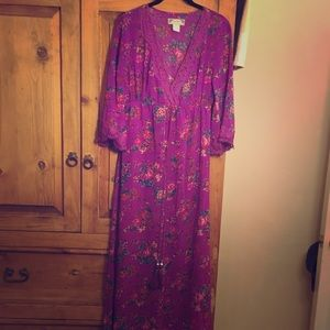 Flying Tomato floral lace boho hippie maxi dress
