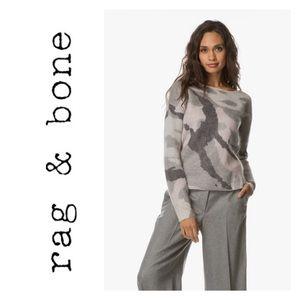 New Rag & Bone Sinclair Camo Sweater Grey Size M