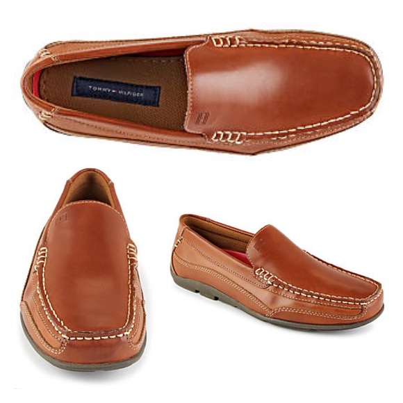 Details about Tommy Hilfiger Mens Brown Penny Loafer Driving Moc Shoes Slip On Size 11 M
