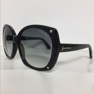 110a9411bf7a Tom Ford Accessories - Tom Ford Gabriella TF 362 Large Black Sunglasses