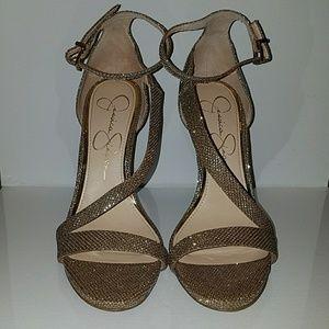 Jessica Simpson Rayli Gold High Heel Sandal
