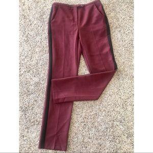 Asos Red Pants with Black Stripe Detail
