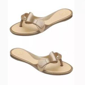 Melissa Gold Bow Sandals 9