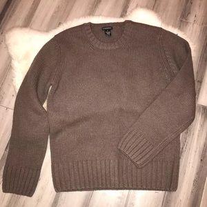 Club Monaco Brown Lambswool Sweater XL