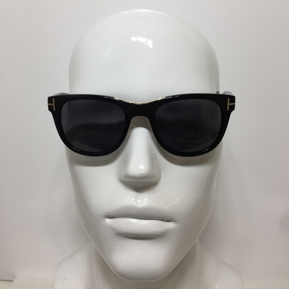 8f0650428be9 Tom Ford Jack TF45 01D black polarized Sunglasses