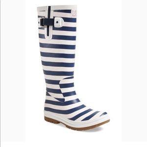 Jelly Hansen Striped Rain Boots Size 10