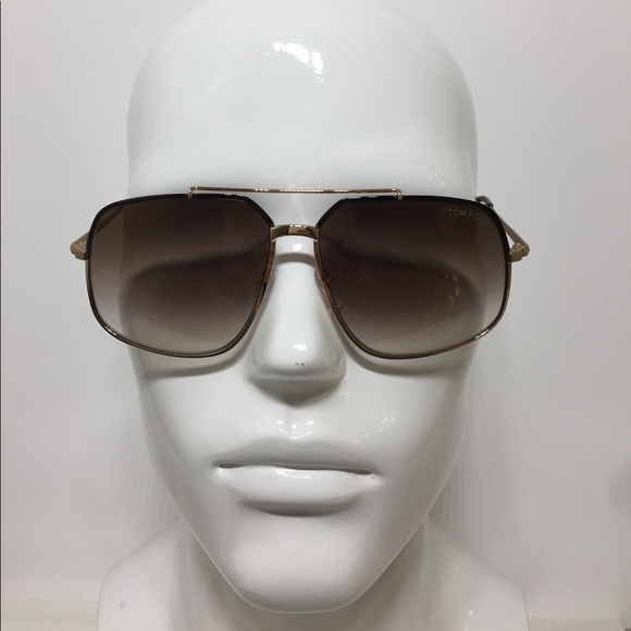 7297c374cd Tom Ford Ronnie TF 439 01G Large gold Sunglasses