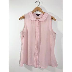 Ballet Slipper Pink Button Up Blouse