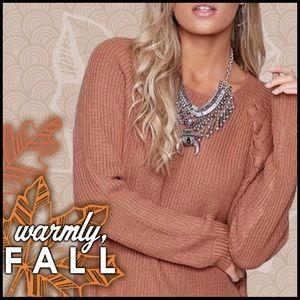 Braid Embellished Sweater Tunic
