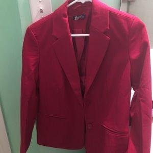 Brand new red blazer petite small
