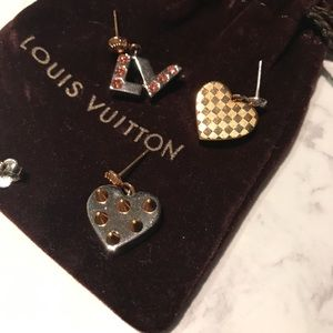 Authentic Louis Vuitton Trio Earings