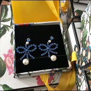 ErdemXhm pearl earrings, NWB. Blue color. H&M