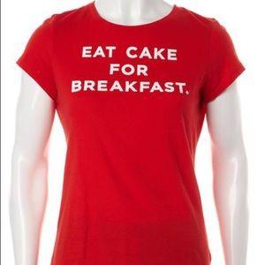 Kate Spade eat cake for breakfast size s tshirt