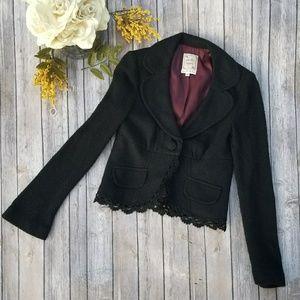 🎉Nanette Lepore Black Wool Bell Sleeved Jacket🎉