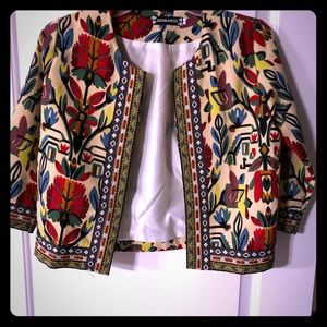 Jackets & Blazers - Fitted cropped bolero jacket