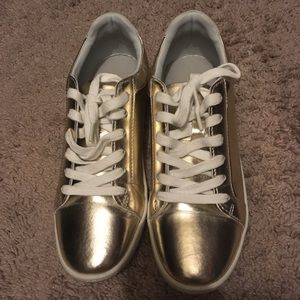 Gold Zara Basic sneaker (37 EU, 7 US)