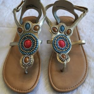 Other - Jewel-detail sandals, girls size 3
