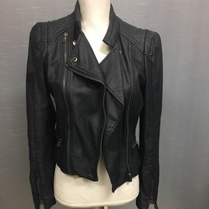 A.B.S Navy jacket, XS. (Not leather)