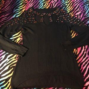 Beaded cold-shoulder Sweater 🥗NWOT