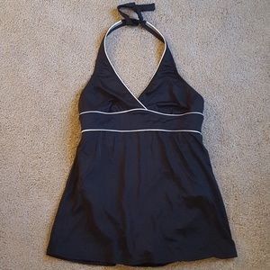 Lands End Black and White Bathing Suit