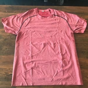 Men's Lululemon Mental Vent Tech Short Sleeve Red