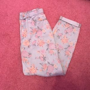 Urban outfitters floral mom jeans